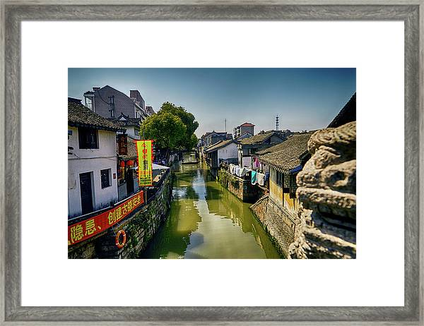 Water Village Framed Print