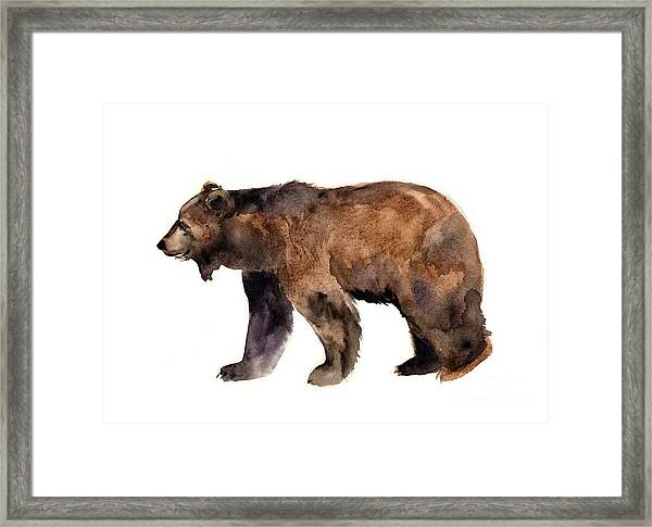 Watercolor Animals. Pets Framed Print