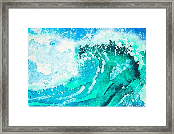 Watercolor Painting - Sea Wave Framed Print