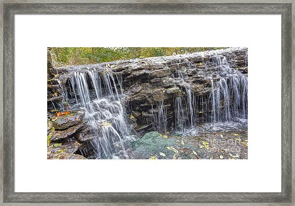 Waterfall @ Sharon Woods Framed Print