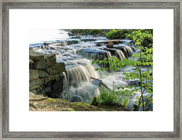 Waterfall At The Old Mill  Framed Print
