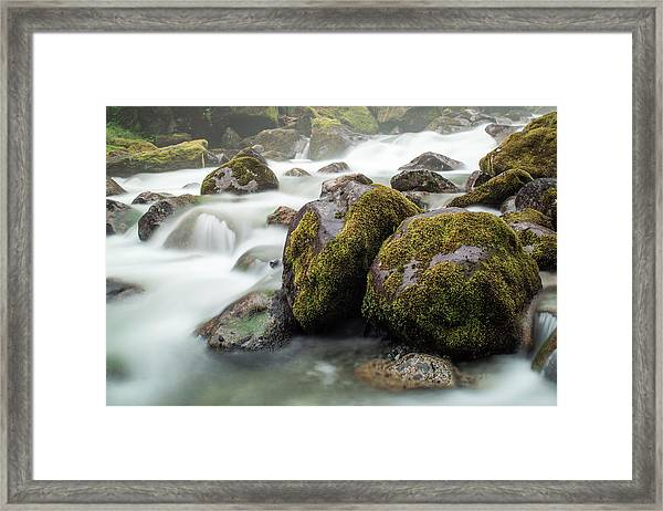 Waterfall, Bc, Canada Framed Print by Paul Souders