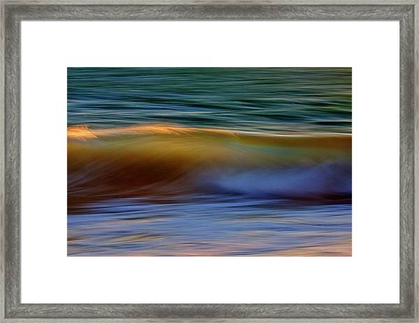 Wave Abstact Framed Print