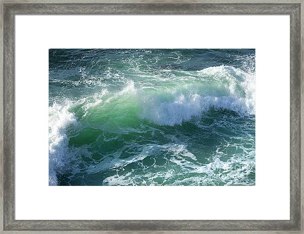 Wave At Montana De Oro Framed Print