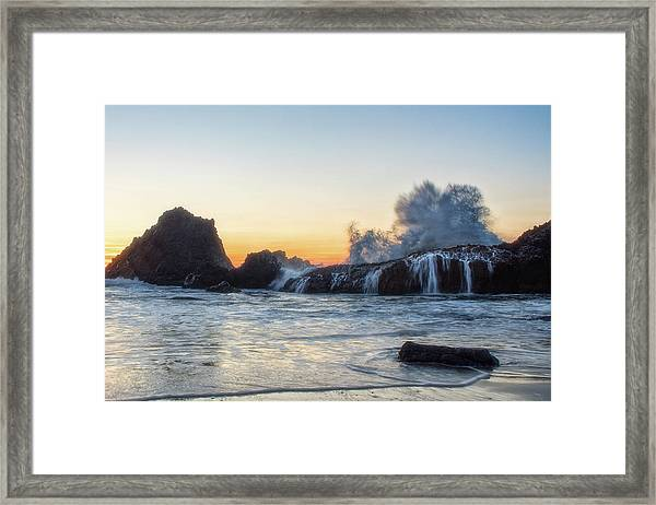 Wave Burst Framed Print