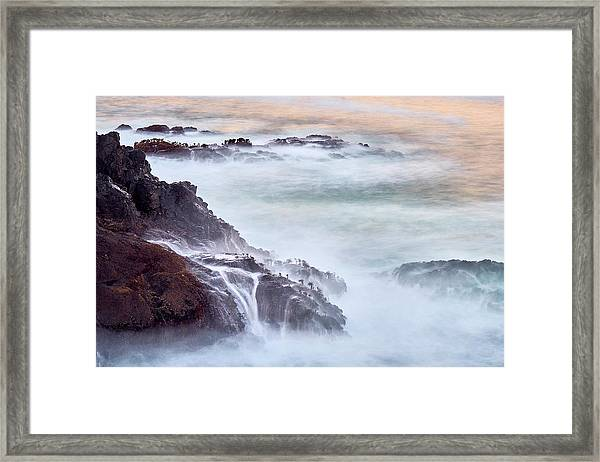 Framed Print featuring the photograph Wave Falls by Whitney Goodey