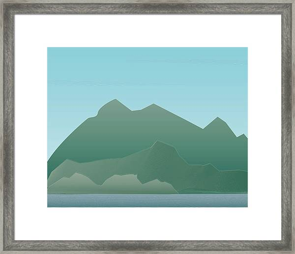 Wave Mountain Framed Print