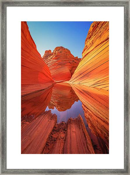 Wave Reflection Framed Print