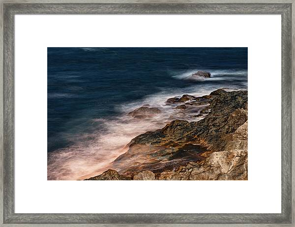 Framed Print featuring the photograph Waves And Rocks At Sozopol Town by Milan Ljubisavljevic