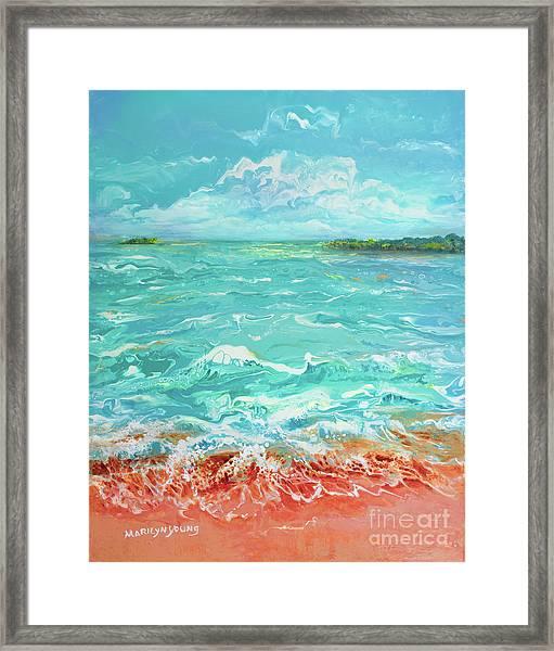 Waves At Sombrero Beach Framed Print