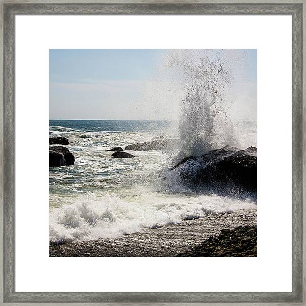 Waves Framed Print by Lona Photography