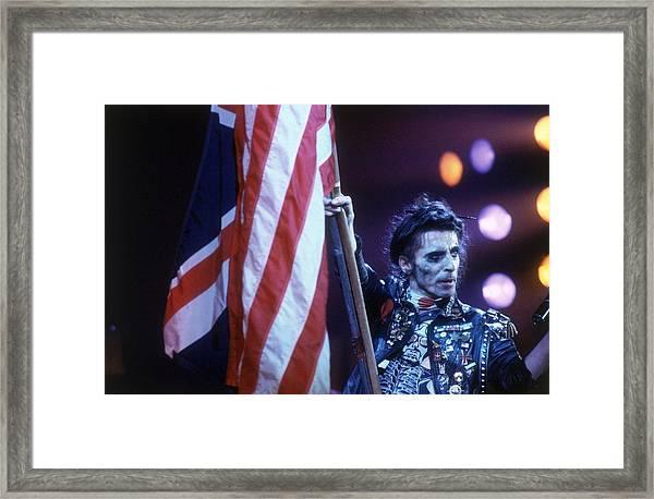 Waving The Flag Framed Print