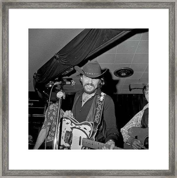 Waylon Jennings At The Palomino Framed Print