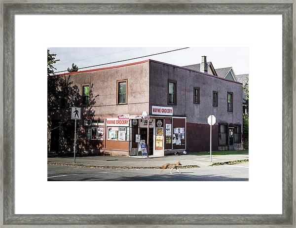 Framed Print featuring the photograph Wayne Grocery by Juan Contreras