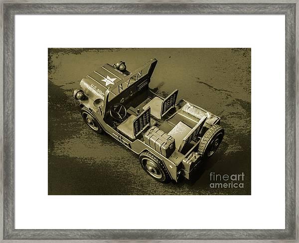Weathered Defender Framed Print