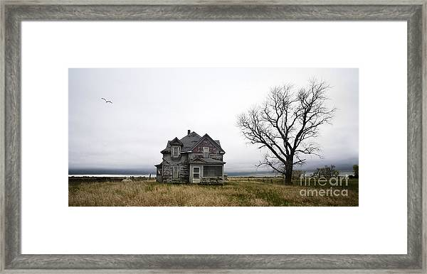 Weathered Homestead Framed Print