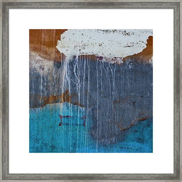 Weathered Paint Detail Framed Print