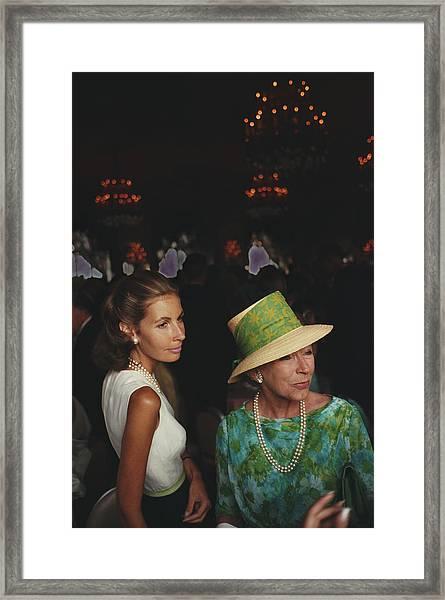Wedding Guests Framed Print by Slim Aarons