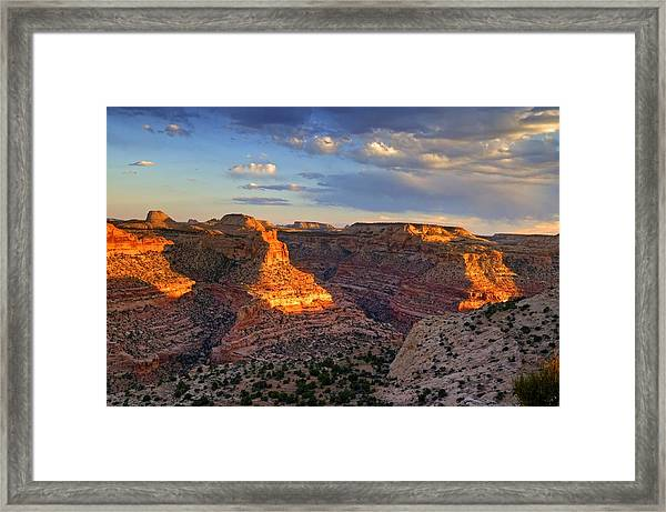Wedge Overlook Framed Print by Yvonne Baur