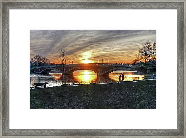 Weeks Bridge At Sunset Framed Print