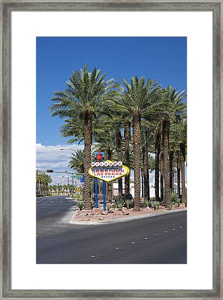 Welcome To Las Vegas Sign, Las Vegas Framed Print
