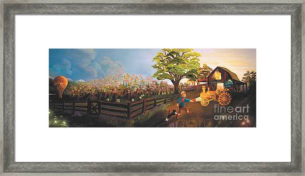 West Barn Framed Print