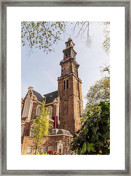 Westerkerk In Amsterdam Framed Print