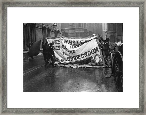 Westminster Wishes Framed Print