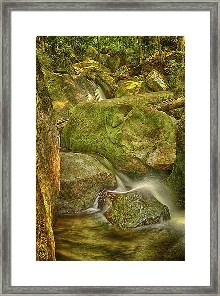 Wet Rocks Framed Print