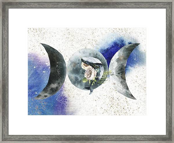 Whale Goddess Framed Print