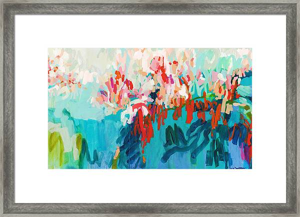 What Are Those Birds Saying? Framed Print