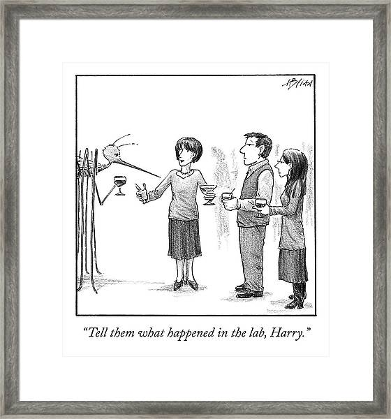 What Happened In The Lab Framed Print