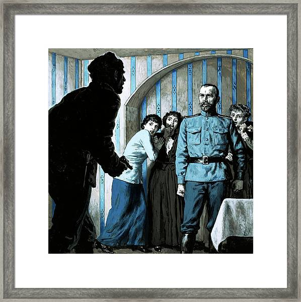 What Is The Meaning Of This Demanded The Outraged Czar Nicholas II Of Russia Framed Print