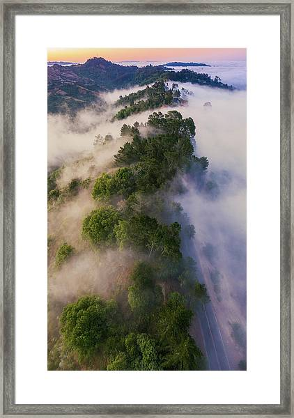 What It's Like Up There Framed Print by Vincent James