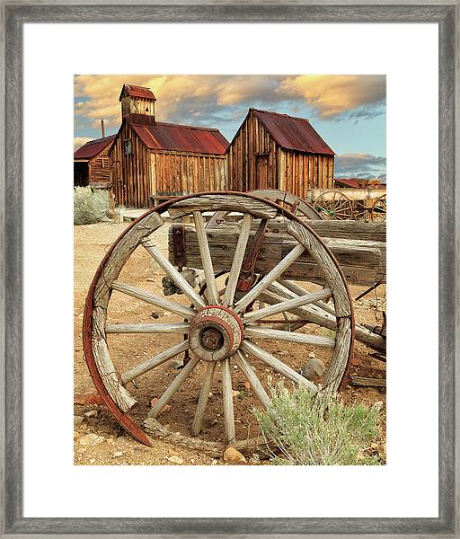 Wheels And Spokes In Color Framed Print