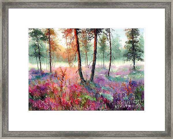 When Heathers Bloom Framed Print