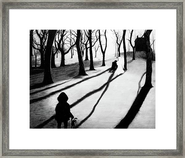 When She Returned... She Saw An Angel - Artwork Framed Print