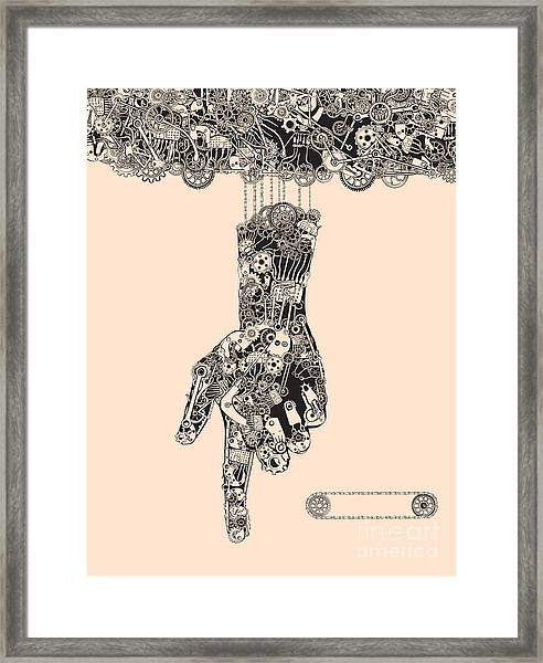 When The Puppeteers Hand Became The Framed Print