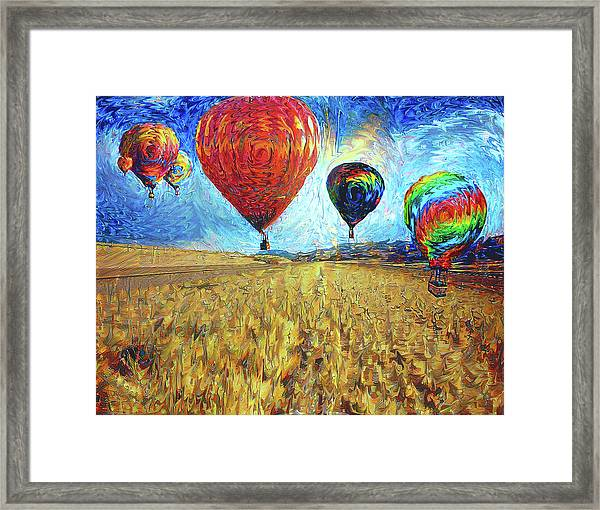 When The Sky Blooms Framed Print
