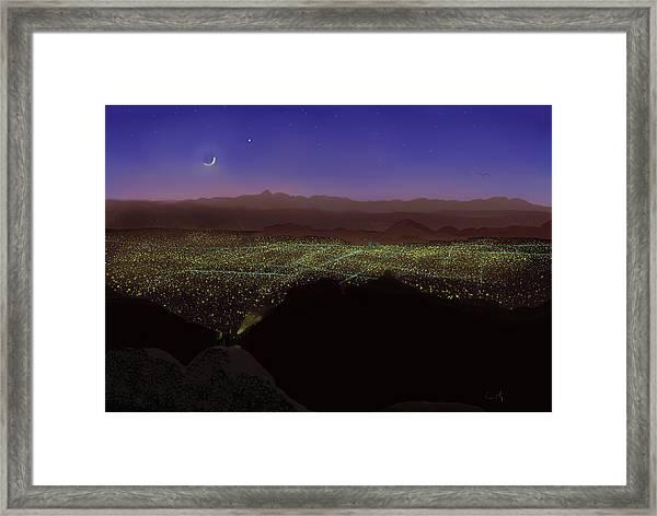 When Tucson's Lights Flicker On Framed Print