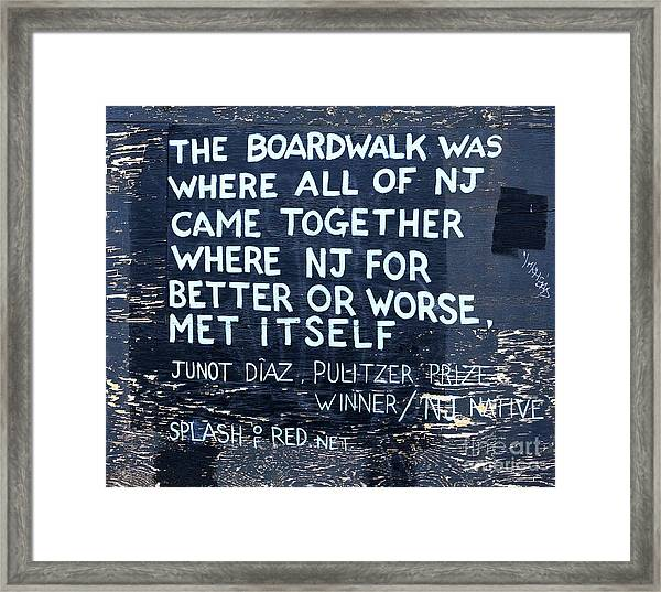 Where All Of New Jersey Came Together Framed Print