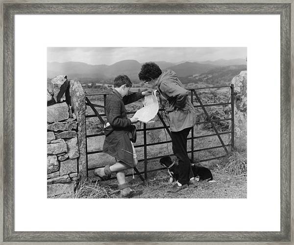 Where Are We Framed Print by Turner