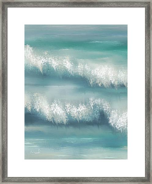 Whispering Waves Framed Print