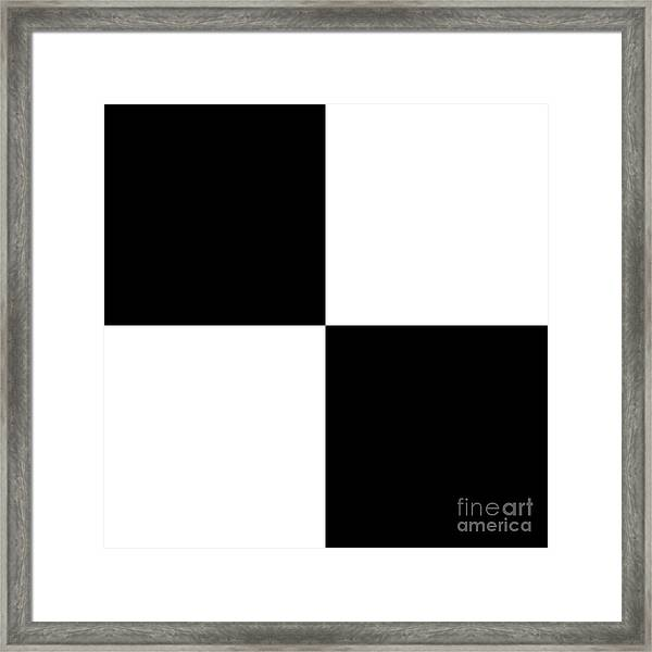 White And Black Squares - Ddh586 Framed Print