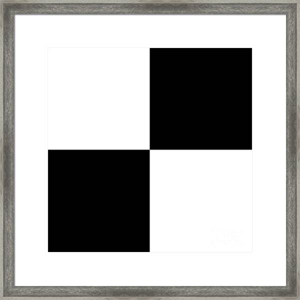 White And Black Squares - Ddh588 Framed Print