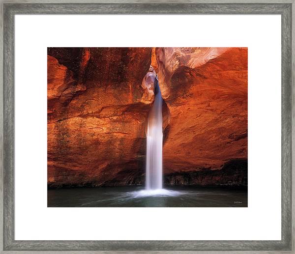 White Canyons Framed Print