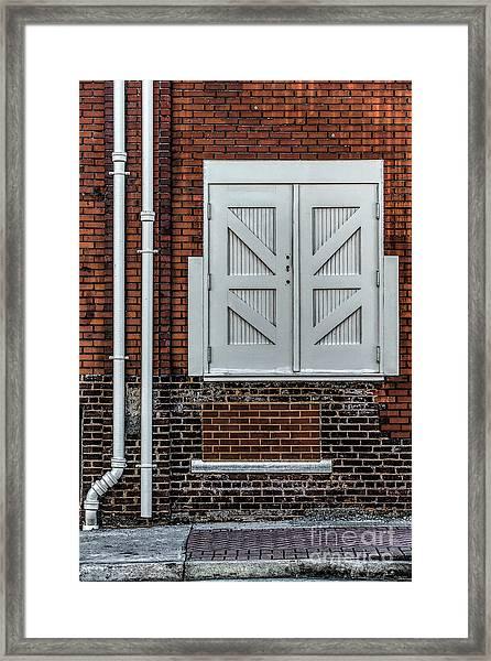 White Doors Framed Print by Elijah Knight