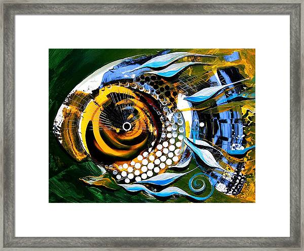 White-headed Mouth Fish Framed Print