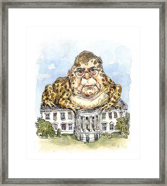 White House Toady Framed Print