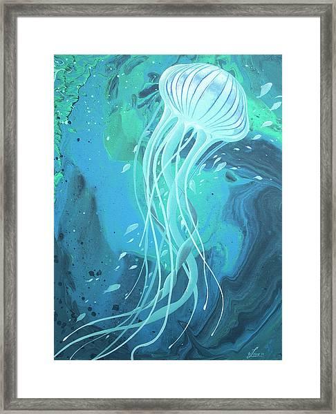 White Jellyfish Framed Print